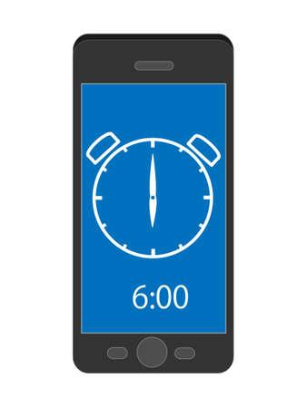 Smart phone tells time. 写真素材 - 120328826