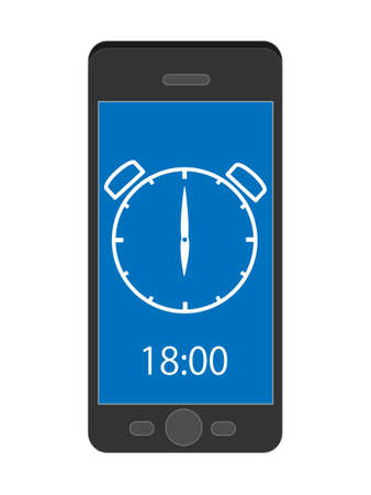 Smart phone tells time. 写真素材 - 120328828