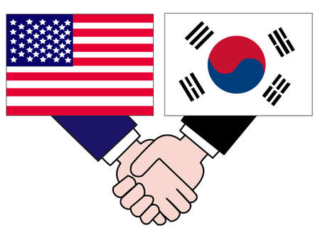 And the countrys diplomacy. Represents a relationship between Korea and the United States.