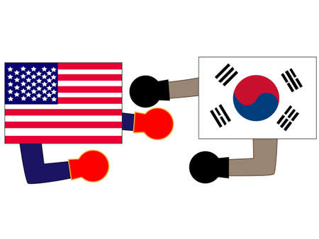 And the country's diplomacy. Represents a relationship between Korea and the United States.