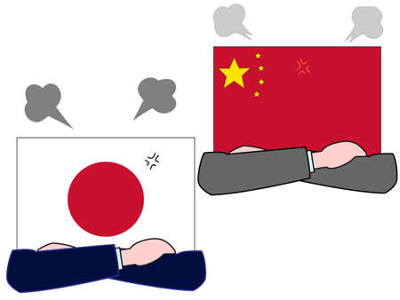 And the countrys diplomacy. Represents a relationship between Japan and China