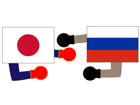 The foreign countries. Describing the relations between Japan and Russia.