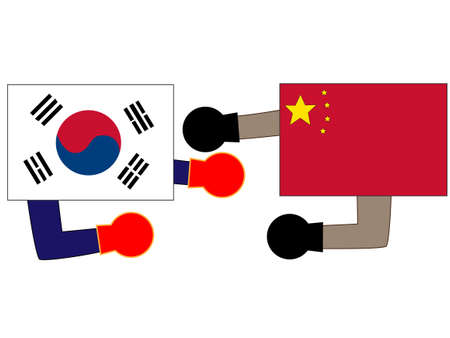 The foreign countries. Describing the relations between Korea and China.