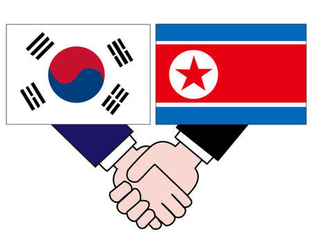 And the country's diplomacy. Represents the State of Korea and North Korea. 写真素材 - 121642318