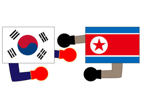 And the countrys diplomacy. Represents the State of Korea and North Korea.  イラスト・ベクター素材