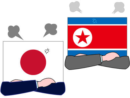 Represents the state of diplomacy between the country and the country. The relationship between Japan and North Korea.