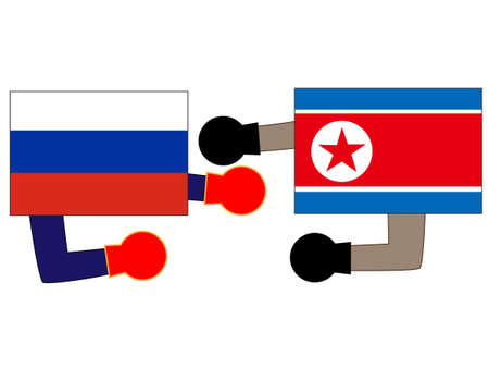 Represents the state of diplomacy between the country and the country. Relations between Russia and North Korea.