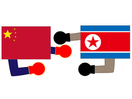 Diplomatic relationship between North  Korea and China.