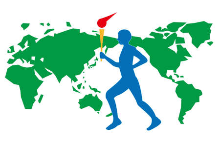 A torch runner who relays all over the world to hold an international convention on sports