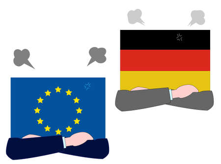 It represents the state of diplomacy between the EU and Germany. 写真素材 - 127897794