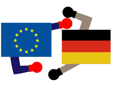It represents the state of diplomacy between the EU and Germany.