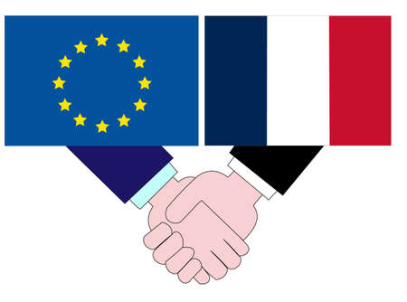 It represents the state of diplomacy between the EU and France.  イラスト・ベクター素材