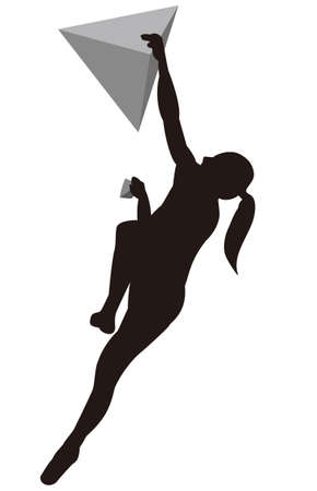 Sports Climbing Silhouette