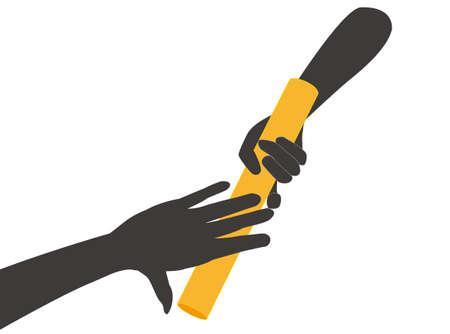 Baton Relay Icon Vector Illustratie