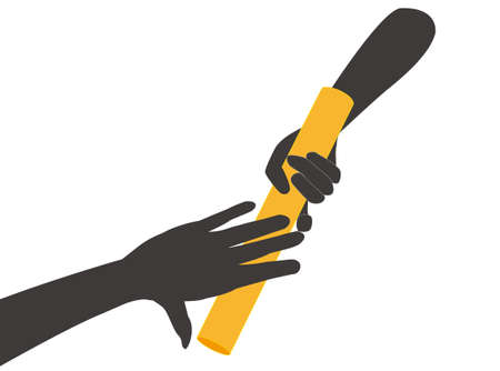Staffelstab-Relais-Symbol Vektorgrafik