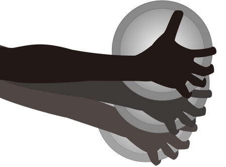 Discus throw silhouette icon  イラスト・ベクター素材