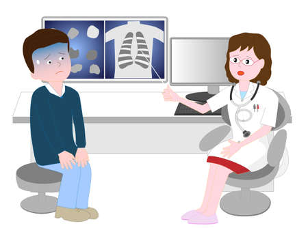 The patient became worried after receiving an explanation of the disease from the doctor.