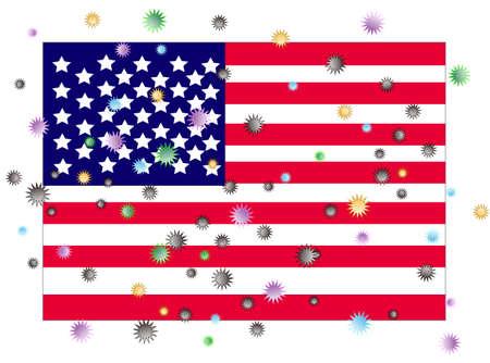 Image of virus infection spreading to the United States Ilustracje wektorowe
