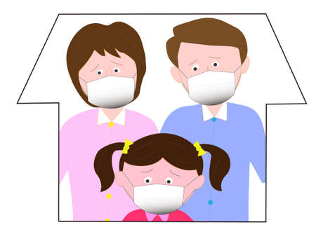 Families refrain from going out to prevent the virus from being infected.