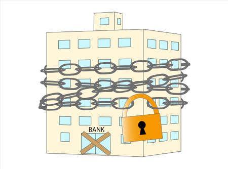 Banks closed due to spreading virus infection