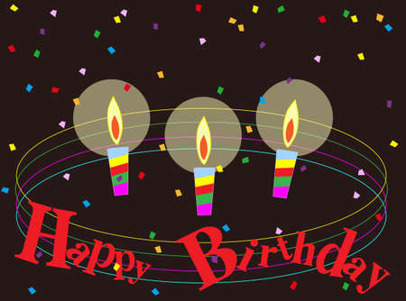 Illustrations of birthdays