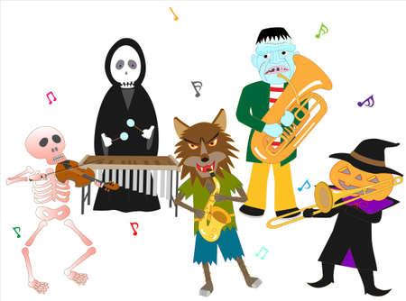 Halloween concert.  イラスト・ベクター素材