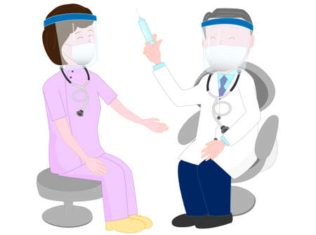 Healthcare professionals who are vaccinated to prevent infection.