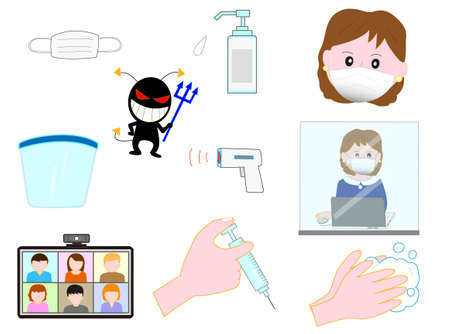 Icon set influenza