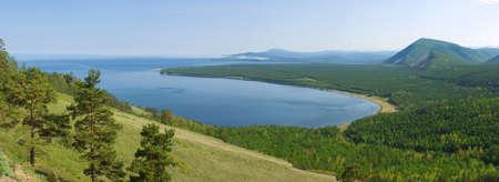 panorama of the coast lake Baikal