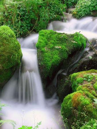 small waterfall in mountain East Siberia