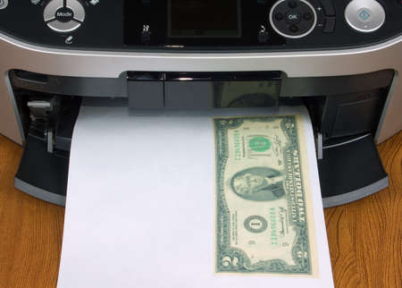 test seal on new printer in office Stock Photo