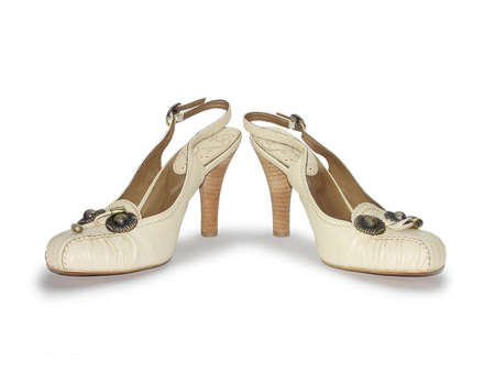 loafers: loafers with decorative buckle on white background