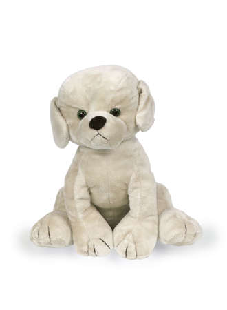 Toy a dog on a white background Stock Photo