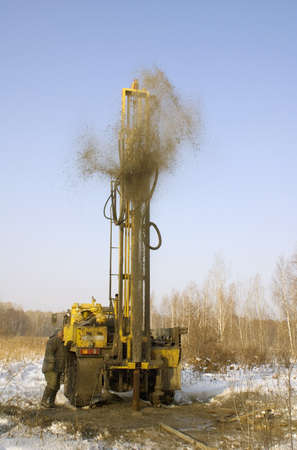 mobile bore installation for boring the bore holes photo