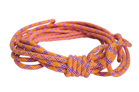 climbing rope isolated on a white background Stock Photo