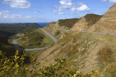mountain road on the island of Sakhalin photo