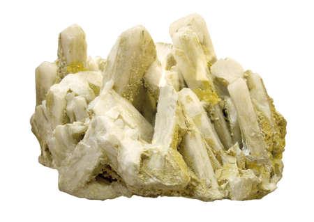druse of quartz on a white background Stock Photo - 18235172
