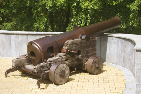 old cannon on the banks of the Amur River Stock Photo - 22060529