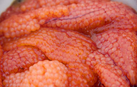 fresh red caviar in front of the ambassador Stock Photo