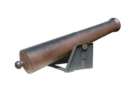 The ancient gun isolated on a white background
