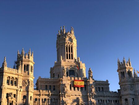Madrid town hall in a sunny day
