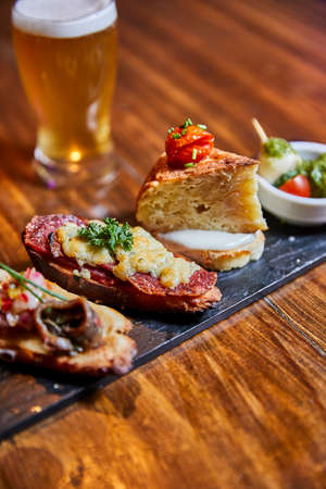 Tapas and craft beer.