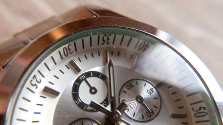 Clocks close-up blurred background time arrows dial reliable exquisite