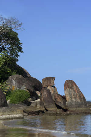 Monoliths - Agonda Bay, Goa Stock Photo