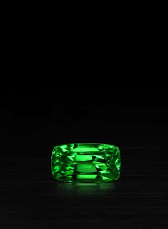 tsavorite: AAA tsavorite garnet Gemstone isolate