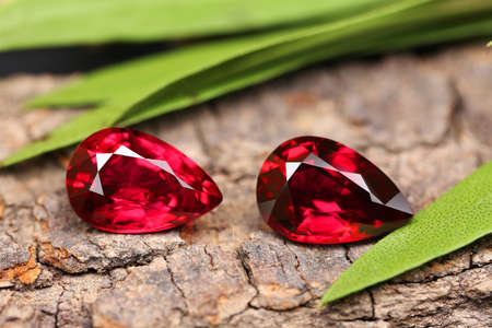Gemstone on natural background real texture