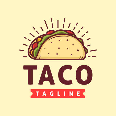Taco logo template, Suitable for restaurant and cafe logo