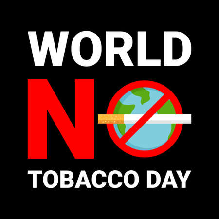 World no tobacco day vector illustration Ilustração