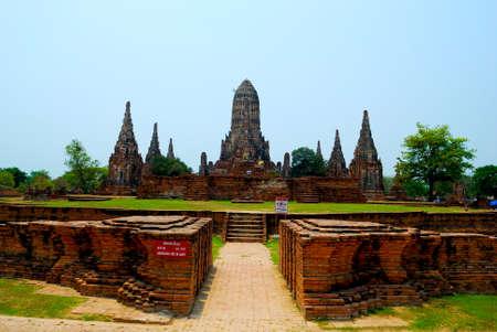 Chaiwatthanaram measure. Ayutthaya Thailand photo
