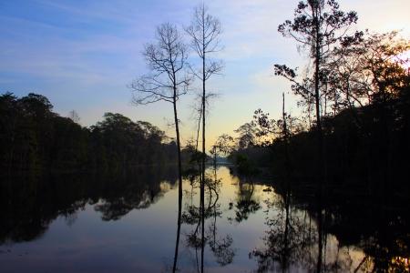 thom: Peaceful river near Angkor Thom